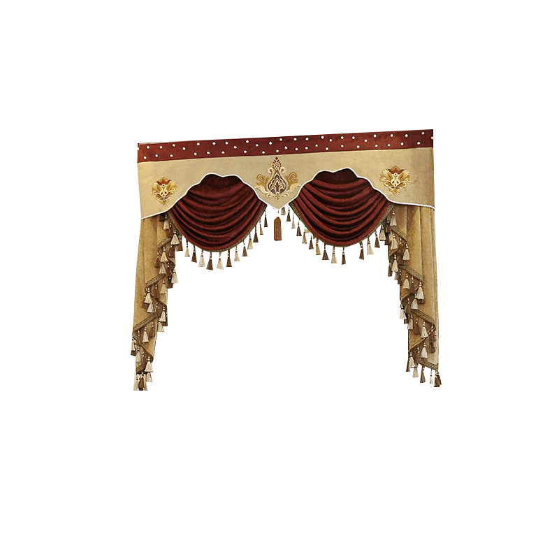 7 Style New Pelmet Europe Luxury Valance Curtains for Living Room Window Curtains for Bedroom Curtains 1 Piece Custom Made