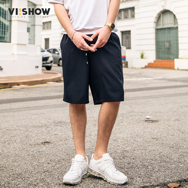 VIISHOW Mens Shorts Summer Fashion Brand Clothing Casual Shorts Men Solid Short Pants Mens Elastic Dreawstring Shorts Men