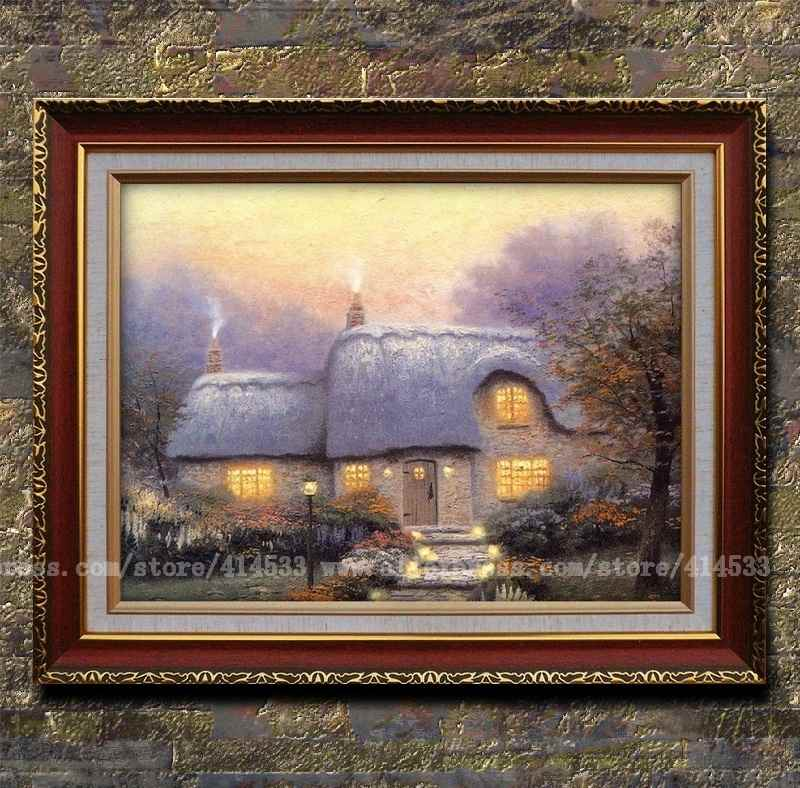 Thomas kinkade prints oil painting the lit path - Home interiors thomas kinkade prints ...