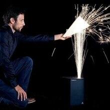 цена на 700w electric sparkler flame fire machine sparklur special coldfireworks DMX 512 ,rotation control for stage wedding lighting