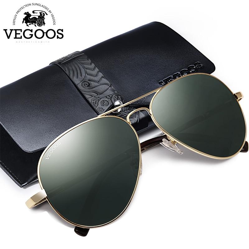 VEGOOS OCCHIALI Occhiali Da Sole Polarizzati Uomini UV400 Protezione Aviation Occhiali Da Sole per Uomo Pilota Occhiali Da Sole Oculos De Sol Masculino 2018 Nuovo