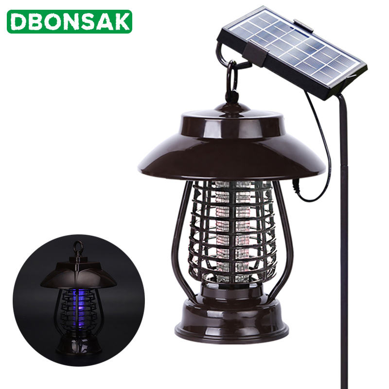 Solar Power Mosquito Killer Light Mosquito Repeller Light Insect Killing Lamp For Hanging Gardens Outdoor Places Pest Reject