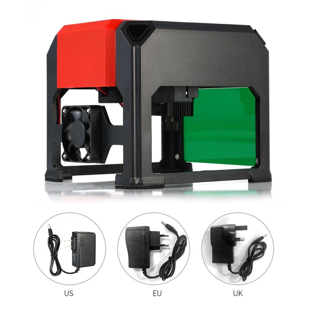 3000 МВт автоматический K5 Тип лазерная гравировка машина USB DIY резьба гравер инструменты для рукоделия с 80*80 мм Гравировка области
