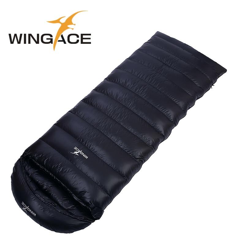 WINGACE Remplir 600G 1000G Enveloppe duvet d'oie Sac de Couchage En Plein Air Adulte Ultra-Léger de Camping Chaud Épissage Touristes Sacs de Couchage