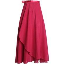 Women Long Chiffon Skirts Dance Costume Dress High Waist Dancing Dancewear For Dancer