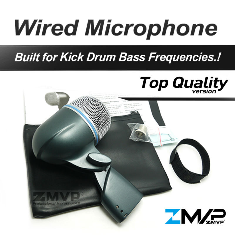 Free Shipping! B 52A Professional Bass Amp Kick Drum Microphone 52A Supercardioid Dynamic Instrument Microfone Mic professional lapel music instrument microfone double bass microphone lapeal for shure wireless system xlr mini microphones