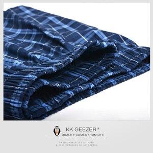 Image 2 - Herren Unterwäsche Boxer Shorts Casual Baumwolle Schlaf Unterhose Packag Hohe Qualität Plaid Lose Komfortable Homewear Gestreiften Höschen