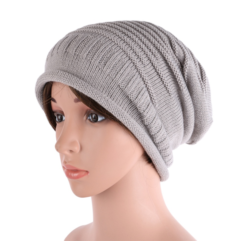 Men Women Cap Winter Warm Knitted Beanie Crochet Baggy Hat Beret Women Hats 2017 winter women beanie skullies men hiphop hats knitted hat baggy crochet cap bonnets femme en laine homme gorros de lana