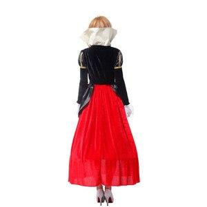 Image 4 - Grande taille alice au pays des merveilles reine de cœurs costumes pour femmes costume Sexy Royal Cosplay vêtements femmes Halloween déguisements