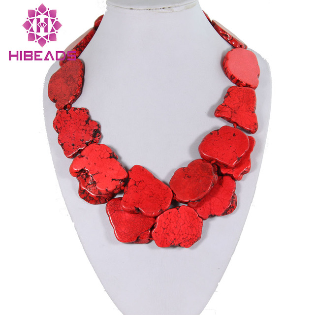 8ac20a2af254f Huge Baroque Red Stone Necklace Jewelry Chunky Stone Stone Statement Jewelry  7 Colors Available TN041