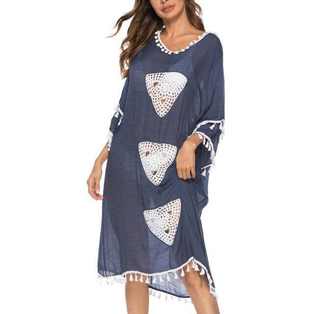 3564377bb233 Descuento Túnica ligera de verano para mujer Vestido playa cubierta ...