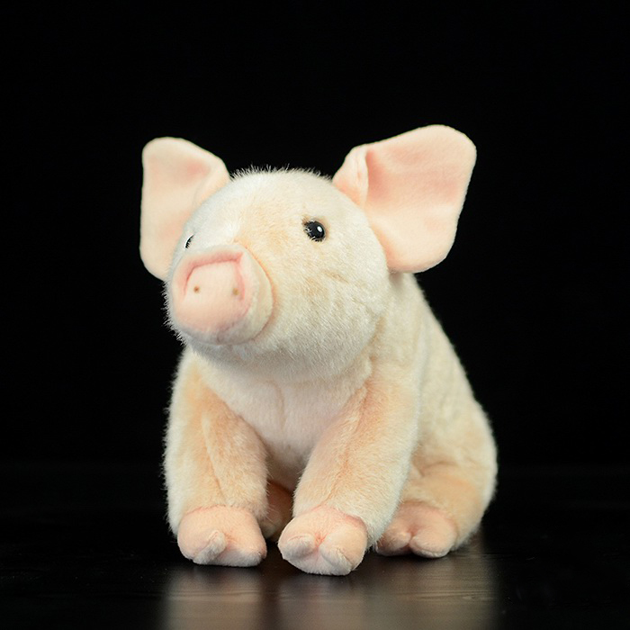 Lifelike Handcrafted Extra Soft Pink Pig Plush Toys Cute Simulation The Little Pig Stuffed Dolls Kids Toys Gift scary lifelike soft rubber hanging bat toys pair