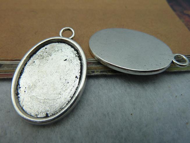 e030c329a615 10 unids plata antiguo oval del Camafeo del colgante del encanto de la  joyería