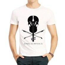 Apocalyptica T-shirt Short Sleeve Cotton Apocalyptica Printing Top Tees Free Shipping apocalyptica apocalyptica shadowmaker 2 lp cd
