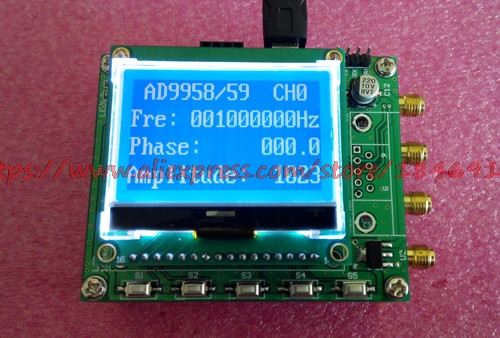 AD9958 AD9959 module DDS à quatre canaux source de signal STM32 meilleur module d'apprentissage V3