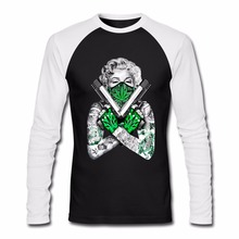 Funny T-Shirt Sexy Marilyn Monroe Gangster Pose Guns Weed Cotton Long  Sleeve T Shirts 716ef8325d840