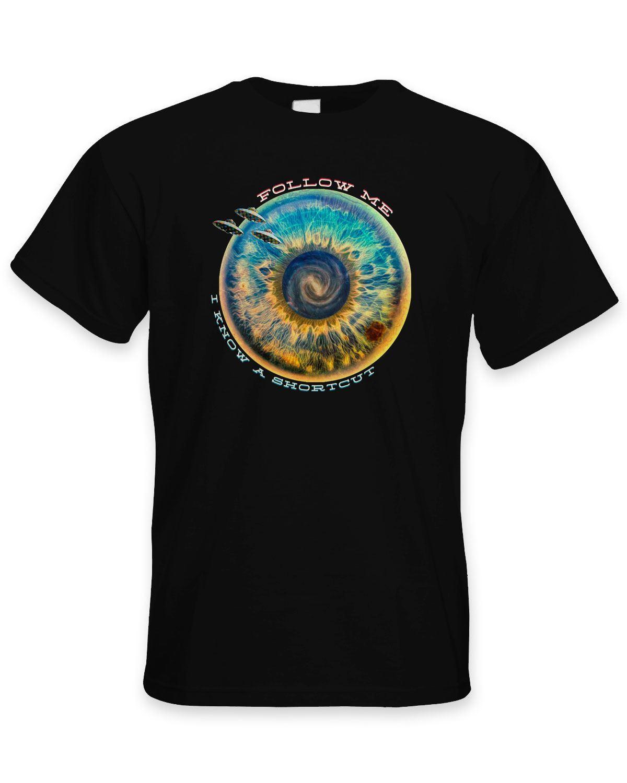 Suivez-moi, Je Connais Un Raccourci Hipster Hommes T-Shirt-Festival de LSD Psychédélique 100% coton T-Shirt, tops gros tee