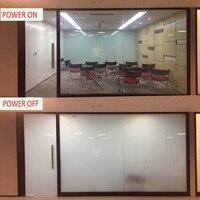 1x2m White Black Color Privacy Magic Film Building Automobile Window Tint Magic Smart Film