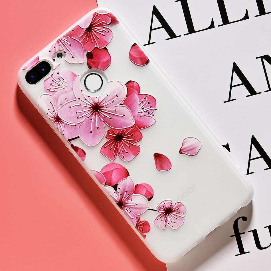 3D Relief Flower TPU Case For On Honor 9 9 lite Soft Silicone Case Back Cover Case for Huawei P20 P10 lite NOVA 2 Case           (26)