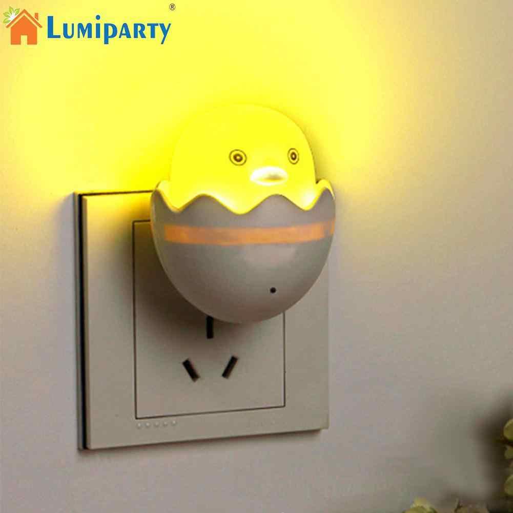 LumiParty свет сенсор популярный ночник маленькая Желтая утка ночник детская спальня креативный мультфильм Декор лампа с евро вилкой