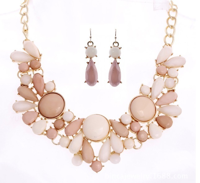 NPASON New Arrival Jewelery Epoxy Necklace Earrings Hyperbole Fashion Style Women/girls Photograph/Party Accessories Hot Sell