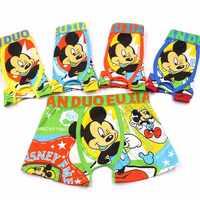 10 Pcs/lot Cartoon Boys Underwear Summer Soft Breathable Kids Baby Boxer Briefs Children Clothing Cartoon Mickey Boy Underpants