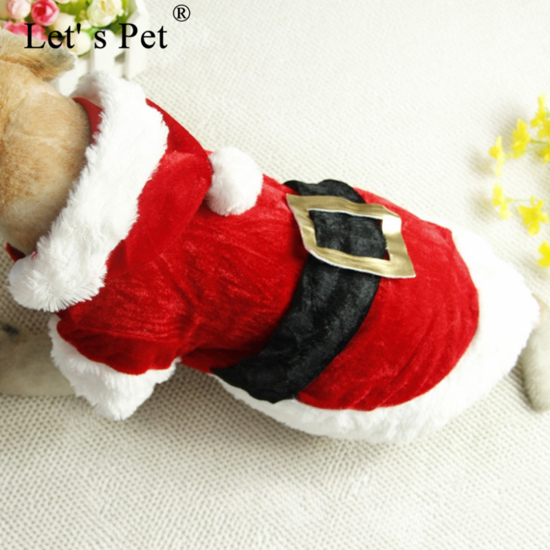 Let s Pet Christmas Dog Clothes Santa Costume Pet Dog Cat Clothes Chihuahua Coat Clothing Cute Pet Christmas Outfit