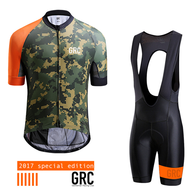 GRC Cycling Jersey Men 2017 Pro Team Summer MTB Sport Quick Dry Cycling  Breathable short sleeves Breathable Cycling Clothing Set c4fd63e92