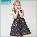 2016 Summer Holiday Party Niños niñas ropa de Moda Vestido de Encaje Floral Vestido de La Muchacha Sin Mangas de los Bebés Hijos Adolescentes Vestidos