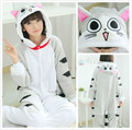 Cosplay Anime Animal Chi's Sweet Home Cheese cat Onesie Adult Halloween Cotumes for Women Men Tabby Cat Flannel Pajamas Pyjamas