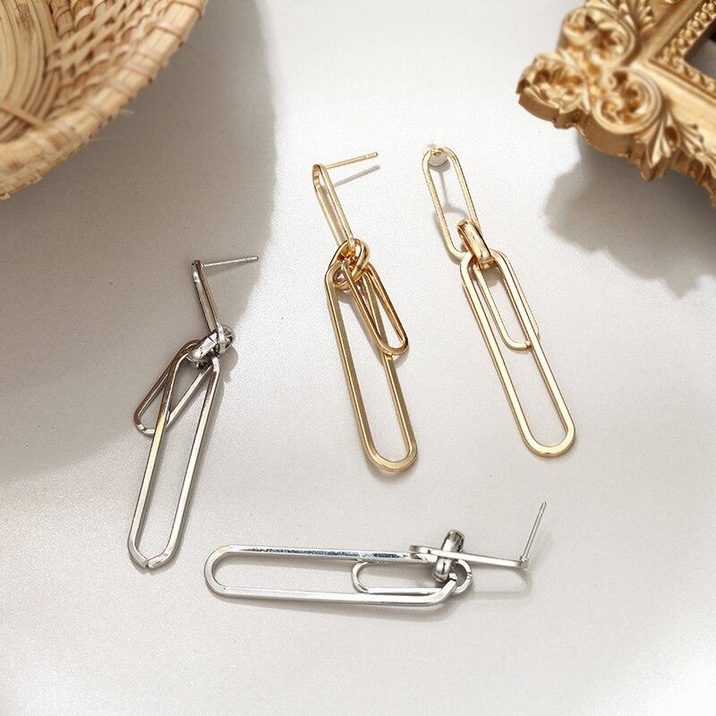 Simple Earrings Women Gold Color Irregular Earrings 2019 Fashion Jewelry Charm Long Earrings For Party Girl Friend Gift