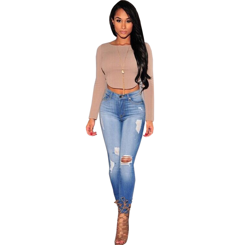 Skinny Jeans Woman Ripped Jeans For Women 2016 High Waist Pantalon Jean Femme Boyfriend Denim Pants Mujer Feminina Plus Size hot sale vintage hole ripped jeans woman plus size mid waist skinny jeans women pencil denim pants jeans femme mujer ck005