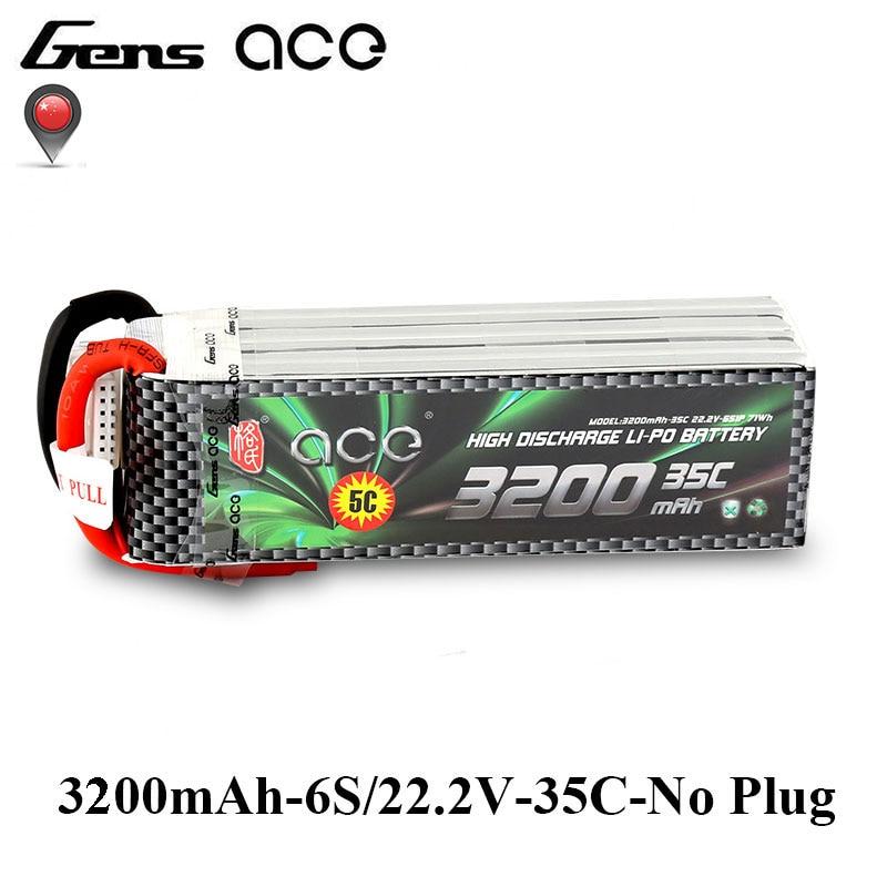Gens ace 3200 mah 6 s 22.2 v 35C-70C Lipo Batterie pour 500 Hélicoptère de taille Fixe Ailes Quadaptor RC Avion accessoires