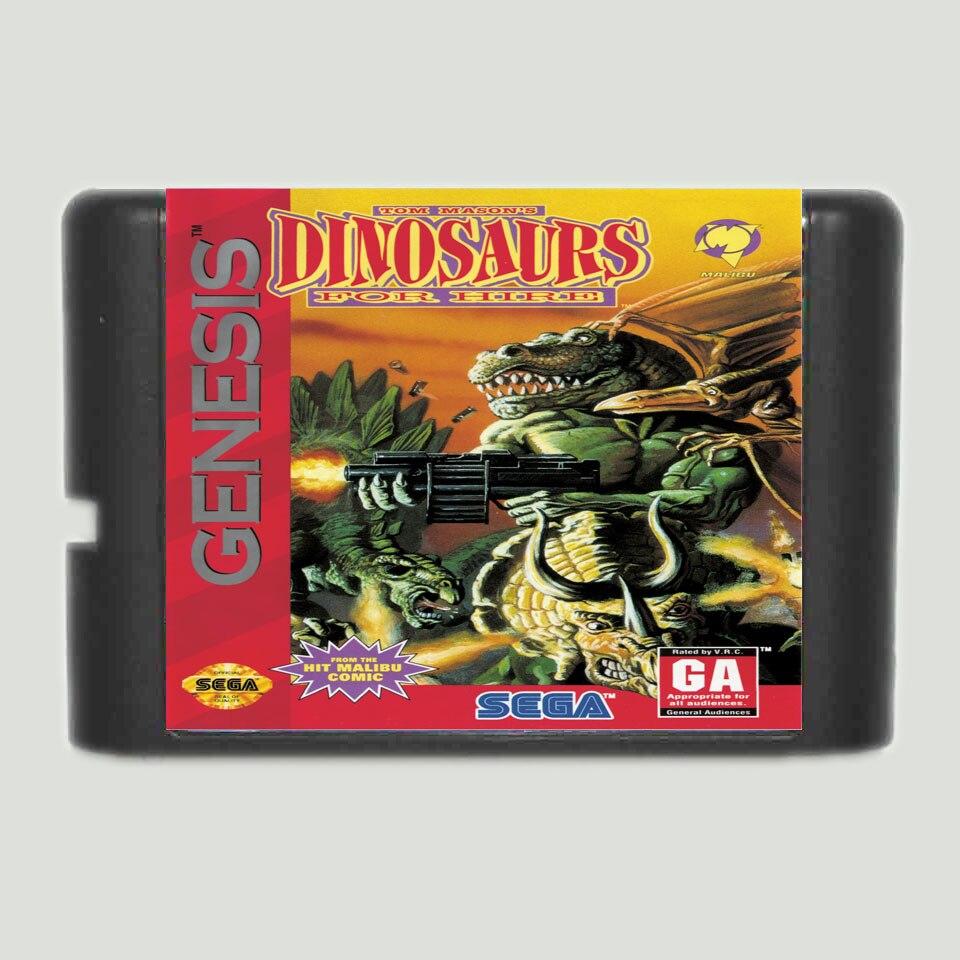 Динозавры на прокат 16 бит MD карточная игра для 16 бит Sega megadrive Genesis игровой консоли