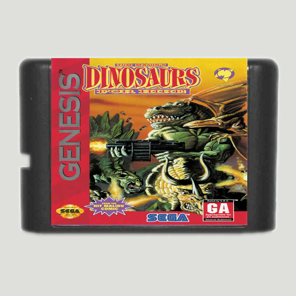 Dinosaurs For Hire 16 bit MD Game Card For 16 bit Sega MegaDrive Genesis game console