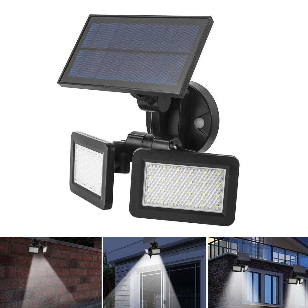 48 leds solar luz de rua radar sensor de inducao lampada de parede a prova dwaterproof