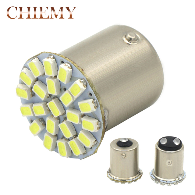 1pcs Super Bright 1156 1157 P21/5W BAY15D 22 LED SMD P21W BA15S Bulb Car Auto Rear Turn Signal Lights Parking Lamp Bulb DC 12V