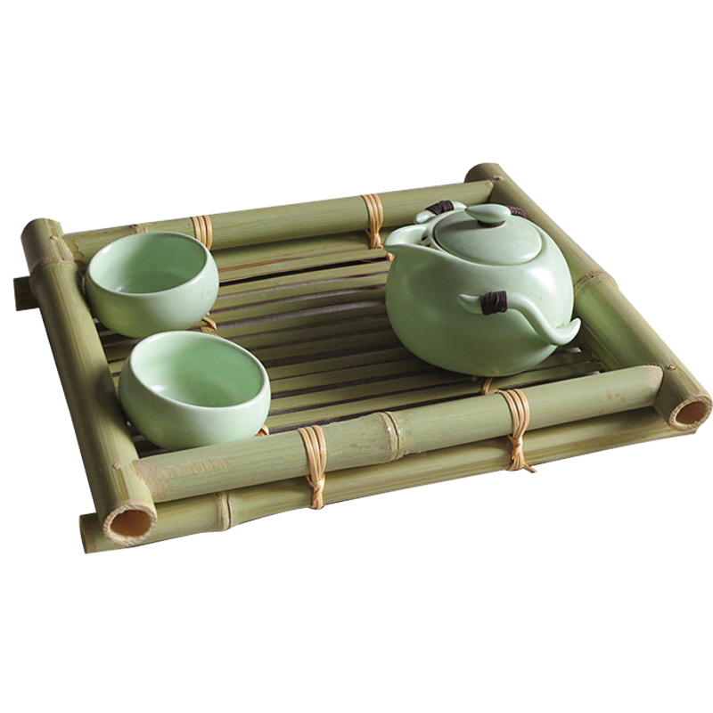 bamboo chinese kung fu tea tray Stored water storage tray dish tea set service saucer vintage Tea ceremony