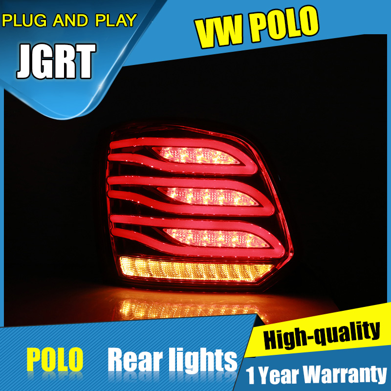 2PCS Car Styling for VW polo Taillights 2011-2017 for polo LED Tail Lamp+Turn Signal+Brake+Reverse LED light turn signal light right car led mirror indicator 3000k for polo skoda octavia
