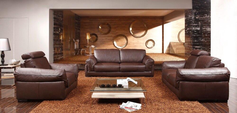 8256 Wohnzimmer Ledersofas Feder Sosfa Set Luxus Leder Sofas 1 2 3