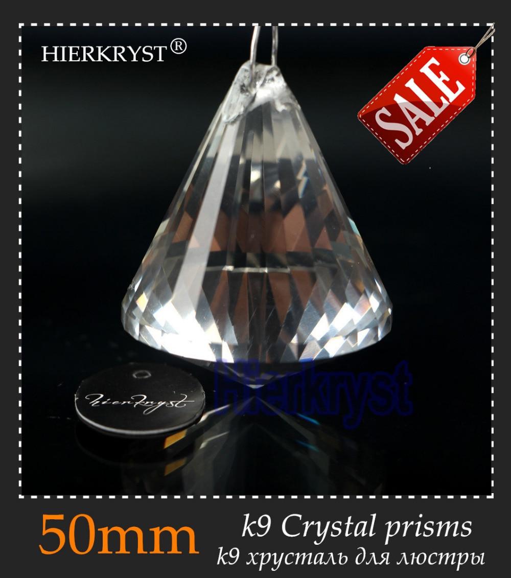 """HIERKYST 1 vnt K9 stiklo krištolo prizmės pakabukai Sietynai Dalys Šviestuvai Vaivorykštės lempos apšvietimas pakabinamas lašai 50mm 2 """"# 1916-2"""