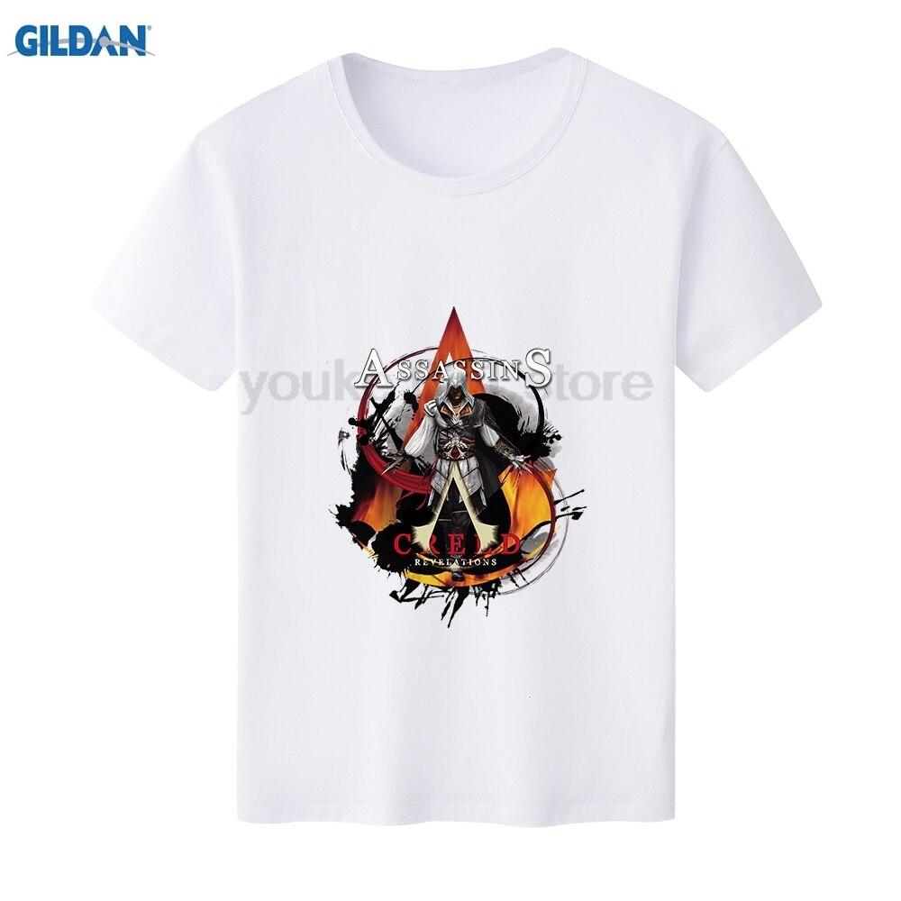 Galleria fotografica GILDAN T Shirt Uomo <font><b>Assassins</b></font> <font><b>Creed</b></font> <font><b>Black</b></font> <font><b>Flag</b></font> Unità Brotherhood O-Collo di Modo Stampato Manica Corta T-Camicette Camicette