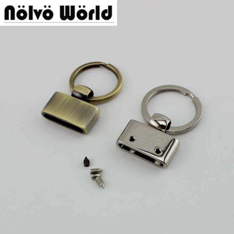 10 Stücke 5 Farben 45x27mm T-form Schlüssel Fob Mit 24mm Split Schlüssel Ringe, Key Fob Hardware Keychain Zubehör Schlüssel Fob