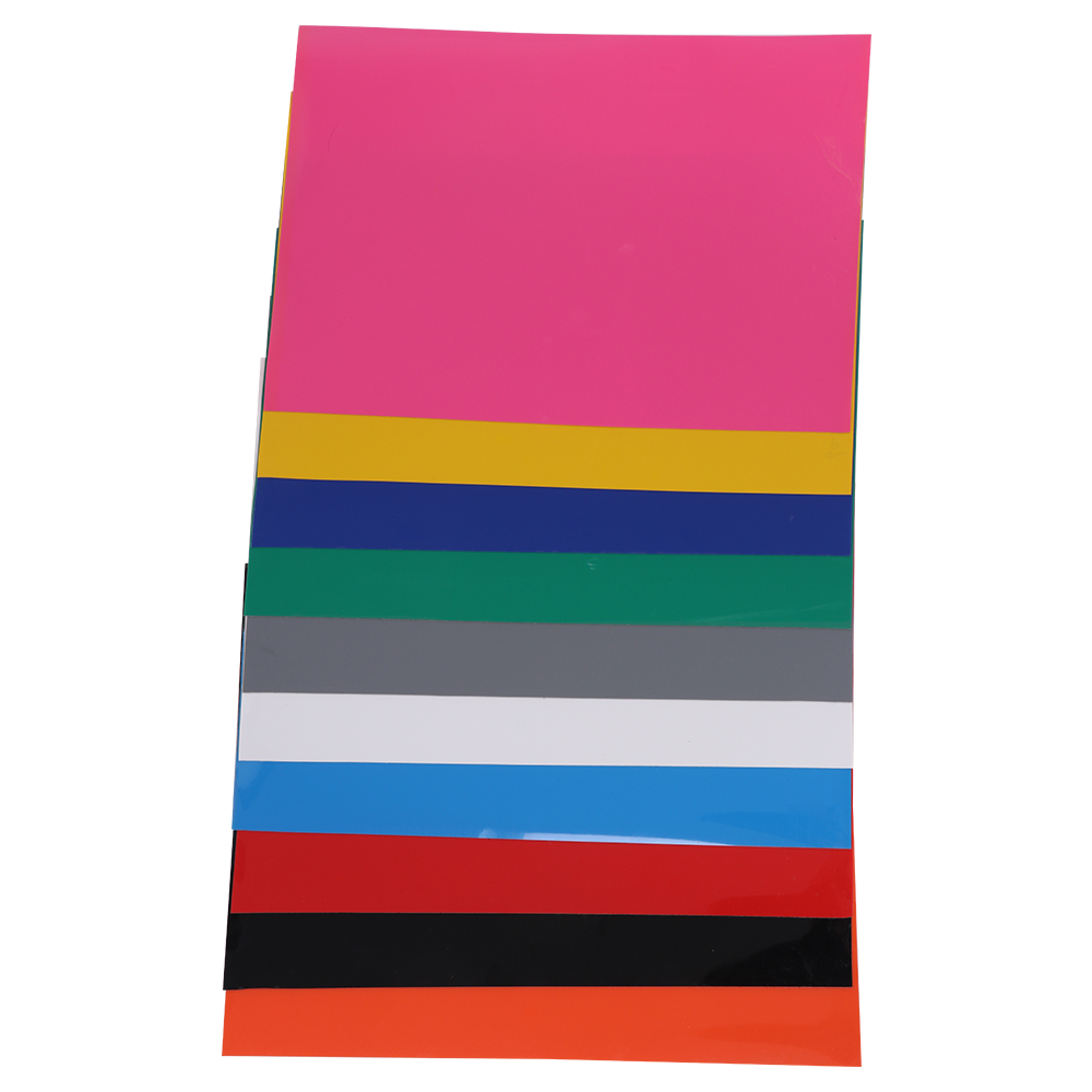 Heat Transfer Vinyl For T-Shirts, 10Pack - 210x297mm Sheets - 10 Assorted Colors, Iron On HTV For Cricut And Silhouette Cameo