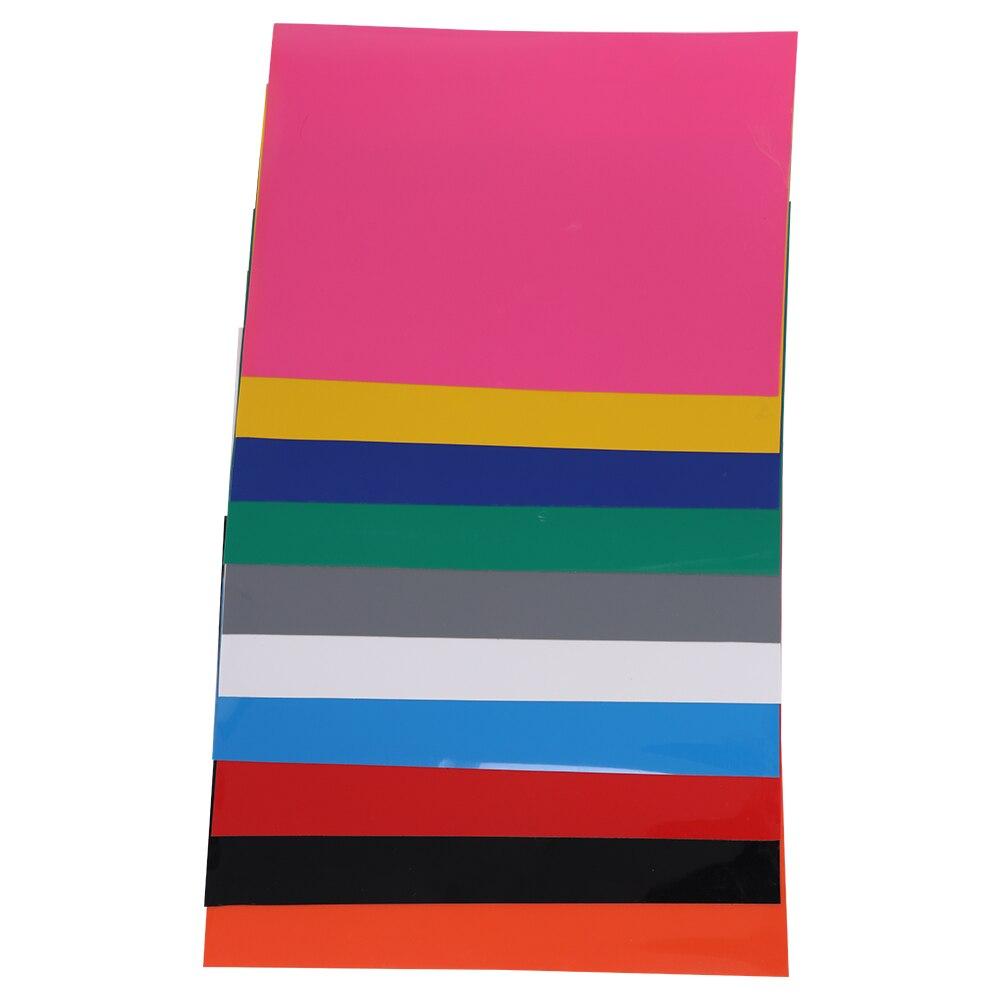 Vinilo de transferencia de calor para camisetas, paquete de 10 hojas de 210x297mm, 10 colores surtidos, Hierro en HTV para Cricut y camafeo de silueta