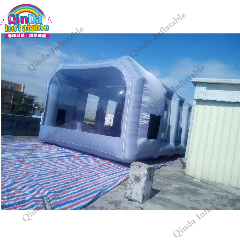 Free Shipping 10*5*3.5m portable cabins inflatable spray booth used car paint booth for sale