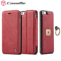 CaseMe For IPhone 6 6s Plus Luxury Leather 2 In 1 Phone Cases Card Slot Stand