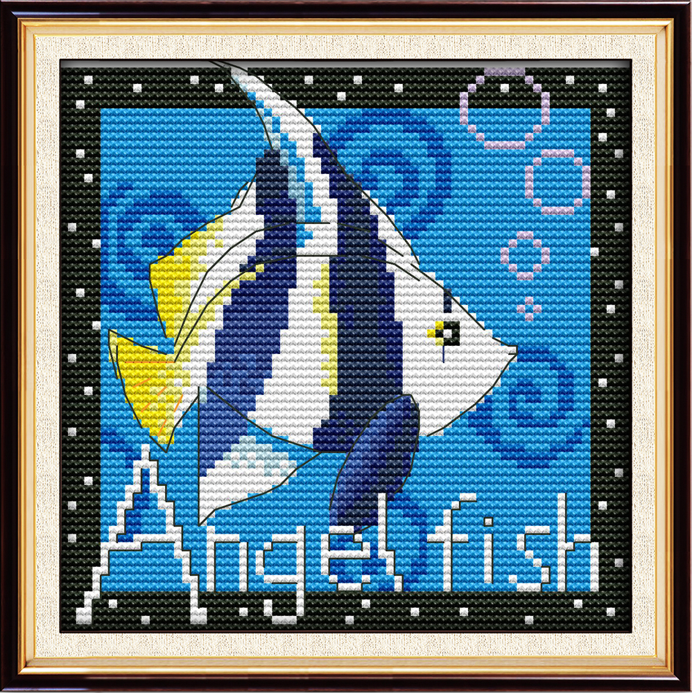 Tropical fish cross stitch kit dmc color cotton thread for H and m fish count