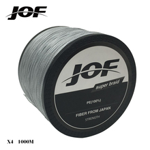 JOF 1000m Fishing Braid Multifilament 4 strands fishing lure PE Braided Wire Fish Lines Fishing Material 20LBS-100LBS