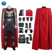Manluyunxiao Thor Odinson Cosplay Halloween Costume For Men Adult Marvel Movie The Dark World Superhero Outfit Custom Made